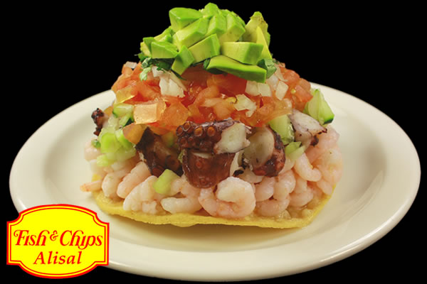 Shrimp & Octopus Tostada